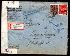 A6264) DR Infla R-Brief Berlin-Rummelsburg 07.06.23 N. Kopenhagen - Briefe U. Dokumente