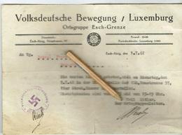 Luxembourg Volksdeutsche Bewegung (Ortsgruppe ESCH/GRENZE) 1942 - Occupation
