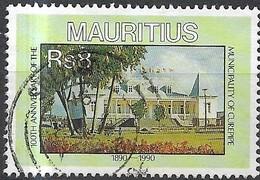 MAURITIUS 1990 Anniversaries -  8r - Town Hall, Curepipe (centenary Of Municipality)  FU - Mauritius (1968-...)