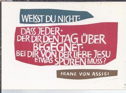 AK-43691 -  Reglig. Spruchkarte  V. Franz Von Assisi - Ansichtskarten