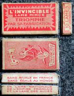 Equipement Du Soldat - Toilette - Ancienne Boîte De Lames De Rasoir, L' INVINCIBLE 10 Lames,1939/45 & Occupation - Uitrusting