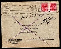 A6265) DR Infla Brief Düsseldorf 14.12.20 N. Saida / Algerien M. MeF Mi.145 - Briefe U. Dokumente