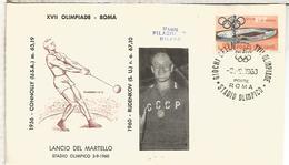 ITALIA 1960 JUEGOS OLIMPICOS DE ROMA OLYMPIC GAMES MAT STADIO OLIMPICO - Verano 1960: Roma
