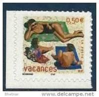"""FR Adhesif YT 35 (3578) """" Pour Vacances """" 2003 Neuf** - France"""