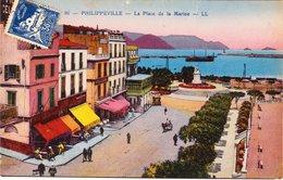 CPA ALGERIE - PHILIPPEVILLE - La Place De La Marine - Andere Steden