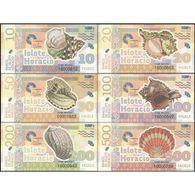 TWN - ISLOTE HORACIO (private Issue) - 10-500 Ekuele 2016 Set Of 6 UNC - Banconote