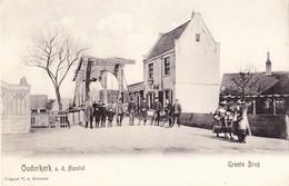 OUDERKERK A.D. AMSTEL 1905 GROOTE BRUG - MOOIE ANIMATIE - GELOPEN KAART - Pays-Bas
