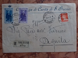 REGNO 1934 - Raccomandata Affrancata Con Serie Pacinotti - Annullo Arrivo Retro + Spese Postali - Storia Postale