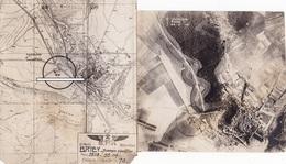 Photo Aérienne Terrain Aviation Briey Meurthe Et Moselle 1914 1918 Avion Aviation WWI 1.wk - Guerra, Militari