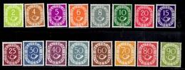 Allemagne/RFA Série Cor Postal (Posthorn) YT N° 9/24 Neufs ** MNH. Signés Schlegel. TB. A Saisir! - [7] Repubblica Federale