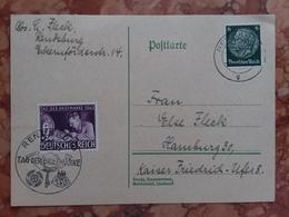GERMANIA III REICH - Cartolina Postale Giornata Del Francobollo 1942 - Annullo Speciale + Spese Postali - Briefe U. Dokumente