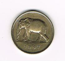 //   BELGISCH CONGO - CONGO  BELGE  2 FRANCS  LEOPOLD III   1947 - Congo (Belge) & Ruanda-Urundi