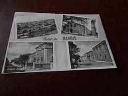 B730  Mandas Sardegna Vedute Viaggiata EVIDENTE PIEGA CHE ATTRAVERSA LA CARTOLINA - Altre Città