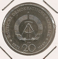 GERMANY ALLEMAGNE ALEMANHA GDR   20 MARK Birthday Of Ernst Thalmann 237 - [ 6] 1949-1990 : GDR - German Dem. Rep.