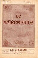 Le Marcophile - De BEAUFOND - Septembre 1948 - Numéro 11 - Marques De Cotes Du Nord - Creuse - Dordogne - Philately And Postal History