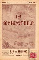Le Marcophile - De BEAUFOND - Juillet 1949 - Numéro 16 - Décime Rural - Marques De - Gard - Haute Garonne - - Filatelie En Postgeschiedenis