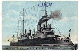 TRANSPORTS 389 : Marine Française Le Hoche Garde Cotes Cuirassé Amiral ; édit. Aqua-photo L V & Cie - Warships