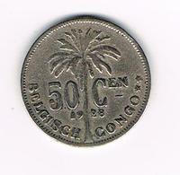 //   BELGISCH  CONGO  50 CENTIMES   ALBERT I   1928 - 1910-1934: Albert I