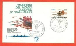 CANOTTAGGIO-CAMPIONATI MONDIALI - FDC - 1982 - Canottaggio