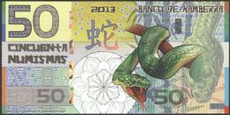 TWN - KAMBERRA (private Issue) - 50 Numismas 2013 00000XXXX Year Of The Snake UNC - Non Classificati