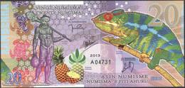 TWN - KAMBERRA (private Issue) - 20 Numismas 2013 Comm. 25th Ann. Chamelion UNC - Banconote