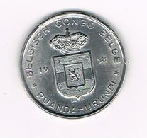 //  BELGISCH  CONGO - RUANDA - URUNDI   5 FRANK   1958 - Congo (Belge) & Ruanda-Urundi