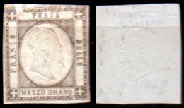 Napoli-F00037 - 1861 - Sassone N. 18 (sg) NG - Piccoli Assottigliamenti In Alto. - Napoli