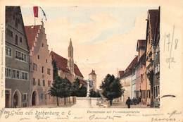 ROTHENBURG GERMANY~HERRNSTRASSE Mit FRANZISKANERKIRCHE-1902 PETER'SCHE BUCHDRUCKEREI POSTCARD 41147 - Rothenburg O. D. Tauber