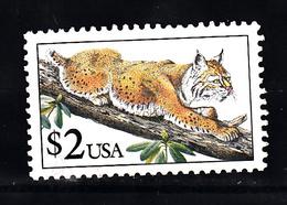 USA 1990 Mi Nr 2092, Dier, Animal, Lynx - Etats-Unis