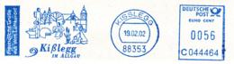 Freistempel 0564 Kißleg Kirche Schmied Musiker Schwimmer - Marcophilie - EMA (Empreintes Machines)