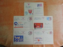 Lot De 5 Entiers Postaux Publibel (J8) - Postwaardestukken