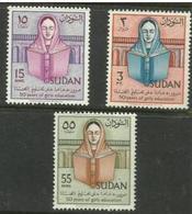 Sudan - 1961 Girls Education MLH *  SG 164-6  Sc 139-41 - Sudan (1954-...)