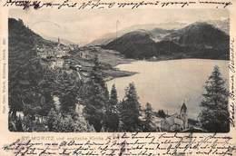 ST MORITZ Und ENGLISCHE KIRCHE-1901 PSTMK PHOTO POSTCARD 41070 - GR Grisons