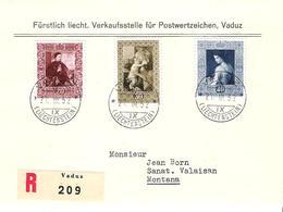 Liechtenstein 1952: Gemälde III (Savoldo Botticelli Del Sarto) Zu 250-252 Mi 306-308 Yv 268-270 Auf FDC (Zu CHF 160.00) - FDC