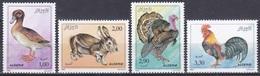 Algerien Algeria Algerie 1990 Tiere Animals Haustiere Vögel Birds Oiseaux Aves Uccelli Hasen Rabbits, Mi. 1029-2 ** - Algeria (1962-...)