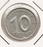 GERMANY ALLEMAGNE ALEMANHA 10 PFENNIG 1953 A 244 - [ 6] 1949-1990 : GDR - German Dem. Rep.