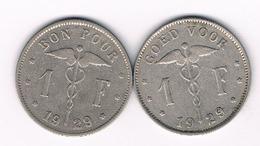 1 FRANC 1929 VL+FR BELGIE /5324/ - 1909-1934: Albert I