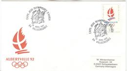 FRANCE Olympic Cover With Olympic Stamp And Olympic Handcancel Villecresnes Expo Jeux Olympique D'Hiver - Winter 1992: Albertville