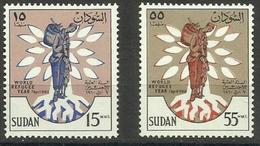 Sudan - 1960 World Refugee Year MLH *  SG 153-4 Sc 128-9 - Sudan (1954-...)