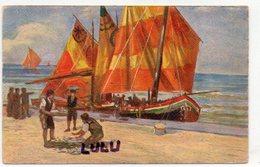 TRANSPORTS 397 : Voilier Sur La Plage Déchargement Du Poisson : édit. L F M N° 707 - Pêche