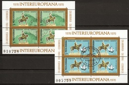 Roemenie Blok Mi 151,152 Intereuropa 78 Gestempeld  Fine Used Sheets - Europese Gedachte