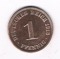 1 PFENNIG  1913 A   DUITSLAND /5335/ - 1 Pfennig