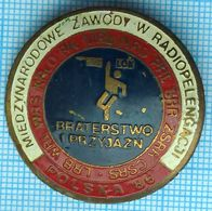 POLAND Badge LOK National Defense League. International Radio Direction Finding Competitions Brotherhood And Friendship - Army
