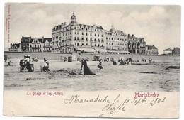 CPA PK  MARIAKERKE  LA PLAGE ET LES HOTELS  CARTE ANIMEE - Belgique