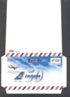 TRANSPORT, PLANES, TAROM AIR COMPANY, UNUSED AEROGRAMME, 2004, ROMANIA - Airplanes