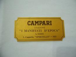 PUBBLICITà TARGHETTA IN METALLO CAMPARI I MANIFESTI D'EPOCA SPIRITELLO 1921 - Alcolici