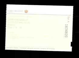 Biglietto Di Ingresso - Teatro Carlo Felice ( Genova ) - Don Pasquale - Biglietti D'ingresso