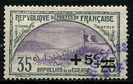 FRANCE - YT 166 - ORPHELINS - TIMBRE OBLITERE - Oblitérés