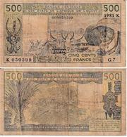Etats D'Afrique De L'Ouest 500 Francs - West African States