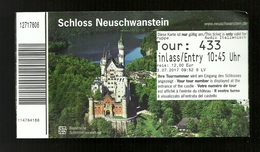 Biglietto Di Ingresso - Castello Neuschwanstein Di  ( Germania ) - Biglietti D'ingresso